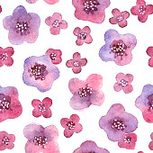 Seamless pattern with flowers in vector.