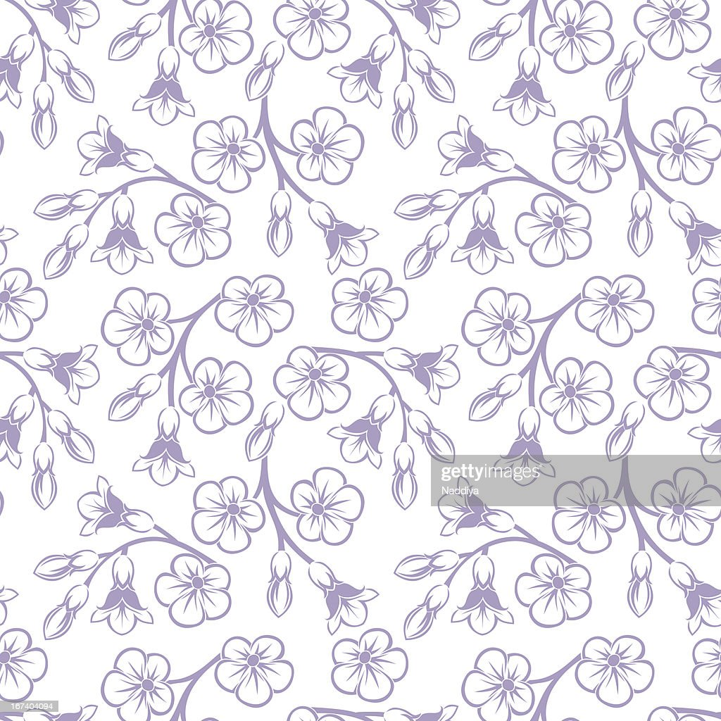 Seamless pattern with flowers. Vector illustration. : Vector Art