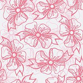 Seamless pattern with gift ribbons