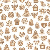 Seamless pattern with ginger cookies