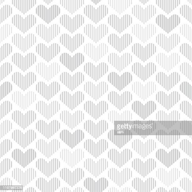 seamless pattern with hearts - heart shape stock illustrations