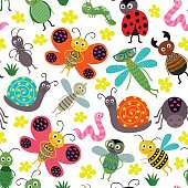 seamless pattern with insect