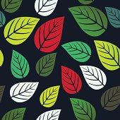 seamless pattern with leaf,autumn