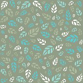 Seamless pattern with leaves - Illustration
