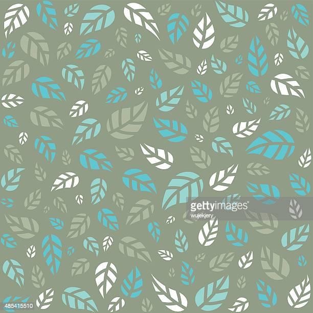 シームレスパターンに木の葉イラストレーション - リーフ柄点のイラスト素材/クリップアート素材/マンガ素材/アイコン素材