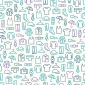 Seamless pattern with man clothes