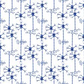 seamless pattern with neurons 3