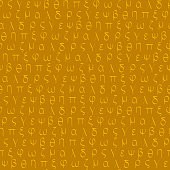 Seamless pattern with old Greek letters