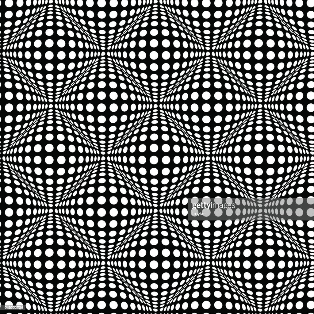 Seamless pattern with optical 3D effect.