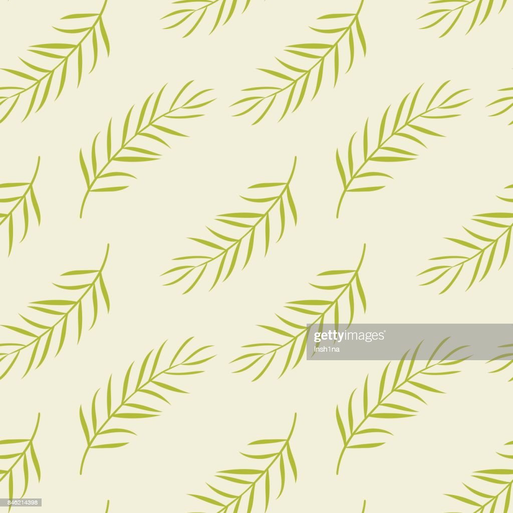 Seamless pattern with palm branch