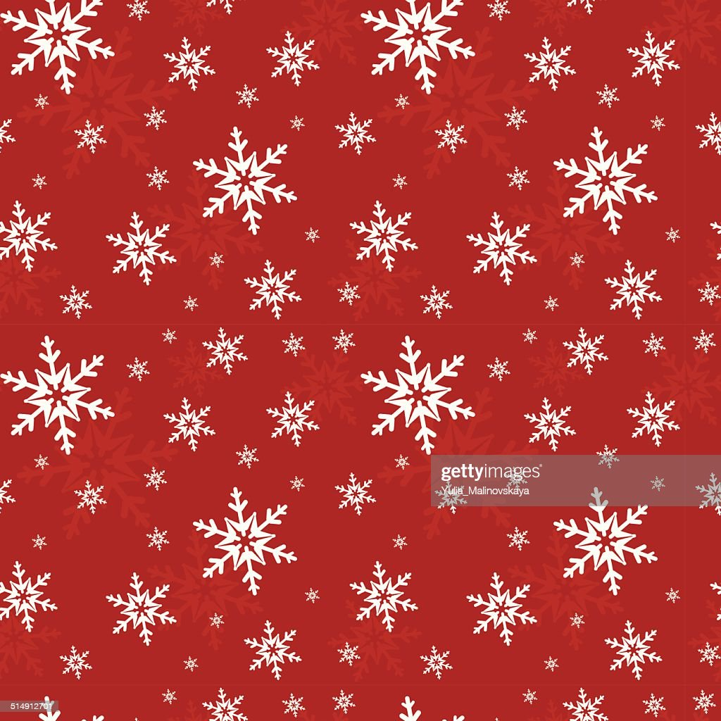 Seamless pattern with snowflakes. Vector illustration.