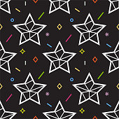 Seamless pattern with star. Geometric style