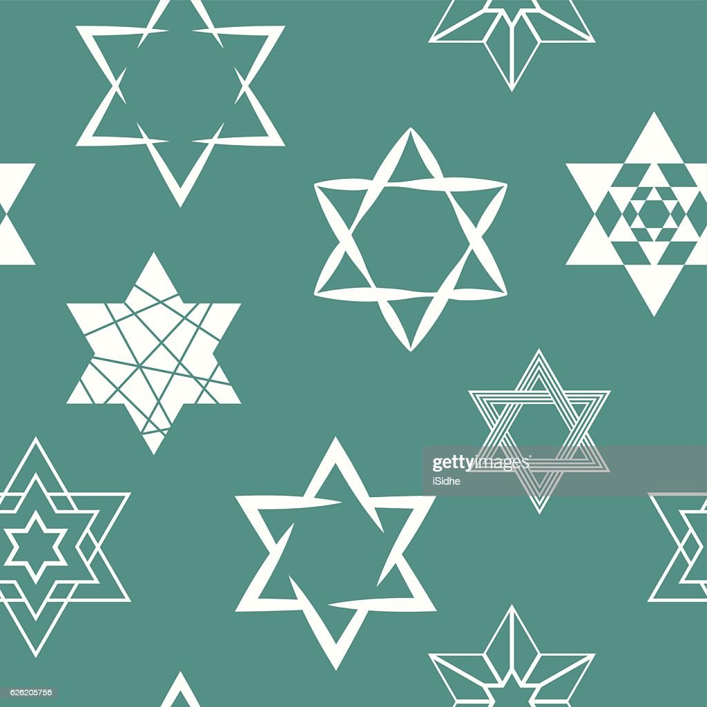 seamless pattern with star of David traditional Jewish symbol