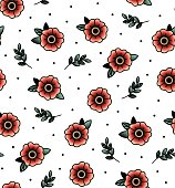 seamless pattern with swallows