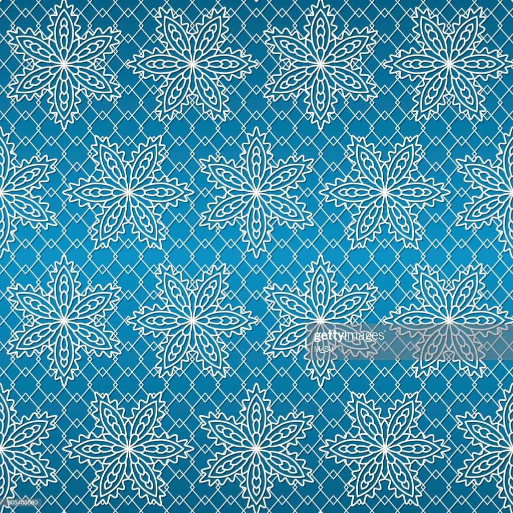 seamless pattern with white snowflakes