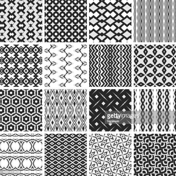seamless patterns collection - pastry lattice stock illustrations, clip art, cartoons, & icons