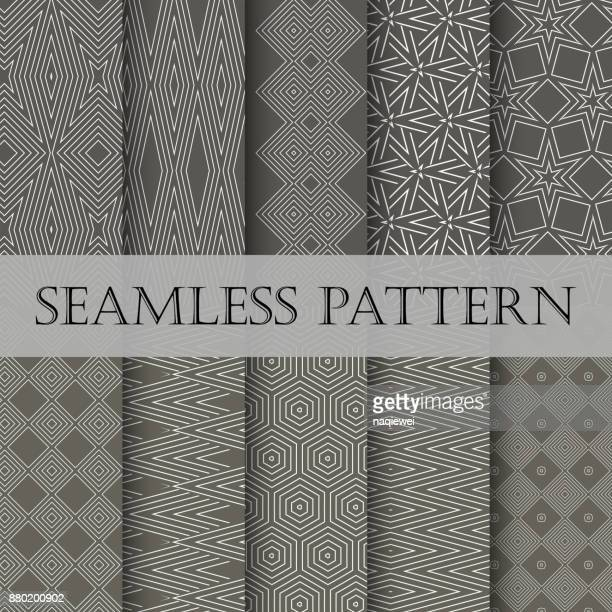 seamless patterns collection - collection stock illustrations