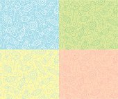 Seamless patterns of candies and lollipops