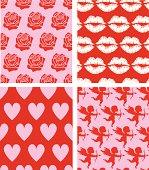 Seamless patterns - St. Valentine's Day