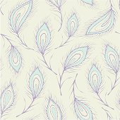 Seamless peacock feather Pattern