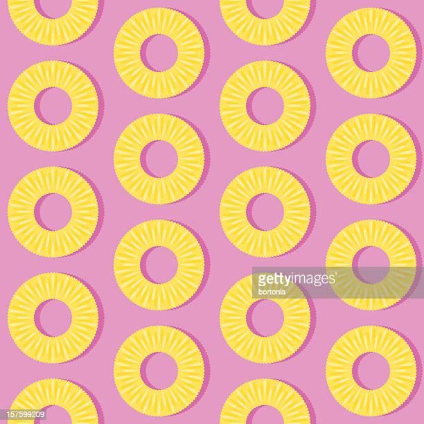 illustrations, cliparts, dessins animés et icônes de rondelle d'ananas motif sans couture - ananas