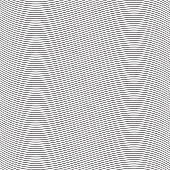 Seamless pinstripe wave pattern for packaging, label or other design applications.