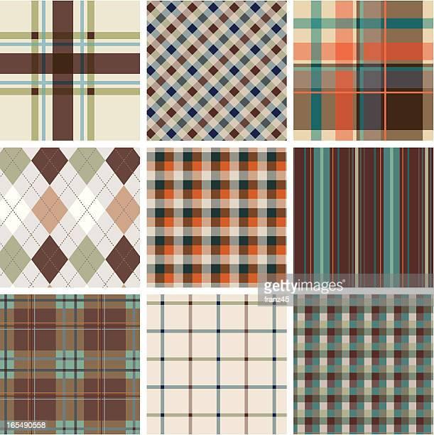 Seamless plaid pattern