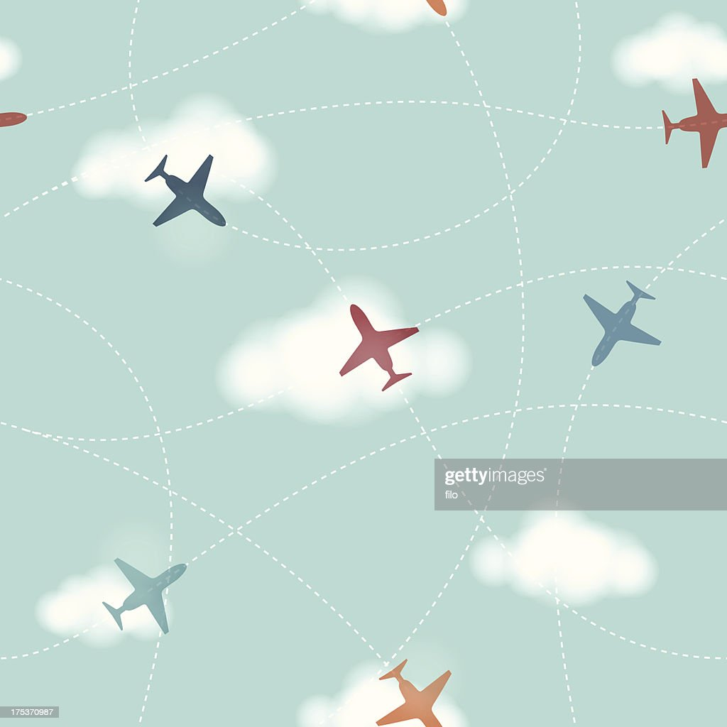 Seamless Planes Background Vector Art