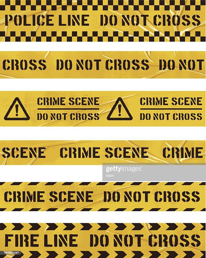 seamless police cordon tapes : stock illustration