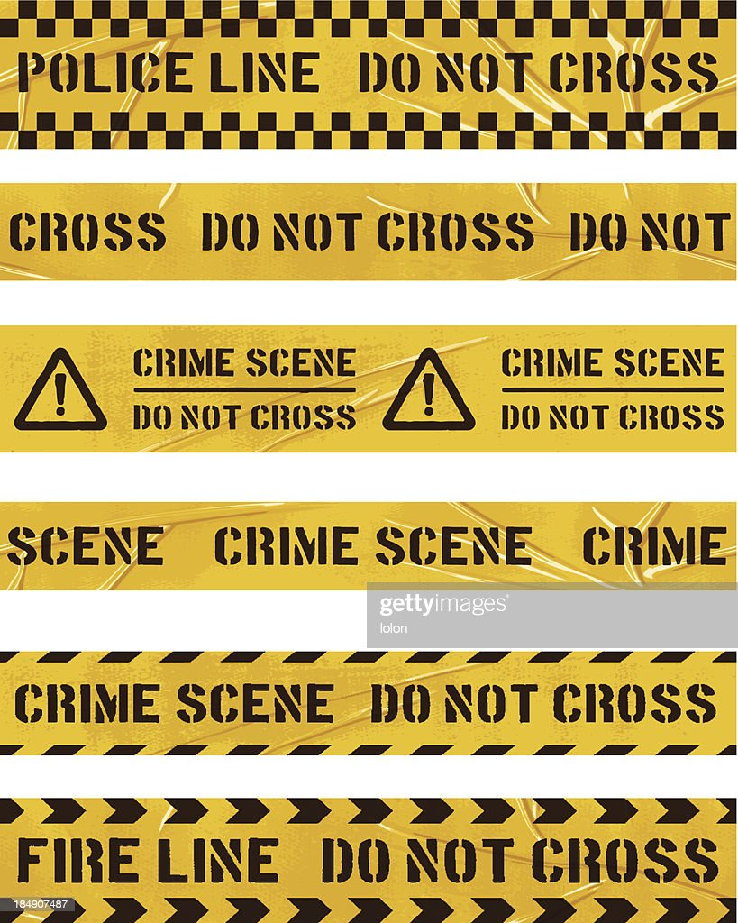 seamless police cordon tapes