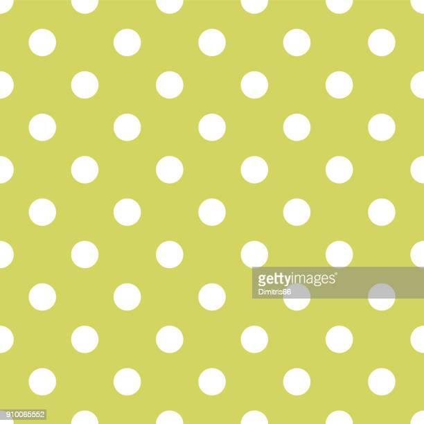 Seamless polka dot on pale green background