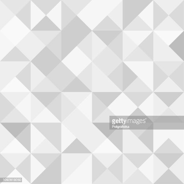 illustrazioni stock, clip art, cartoni animati e icone di tendenza di seamless polygon background pattern - polygonal - gray wallpaper - vector illustration - motivo ornamentale