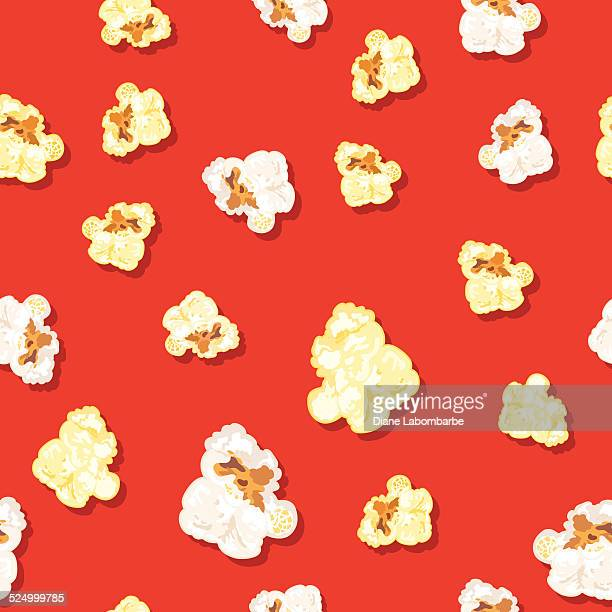 Seamless Popcorn Background Pattern