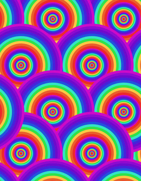 Seamless psychedelic rainbow texture. Abstract pattern for wrapping paper, wallpaper and your creativity