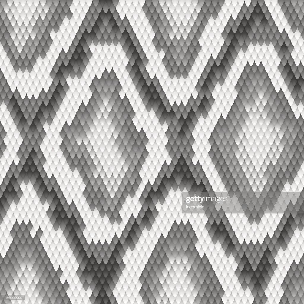 Seamless python snake skin pattern. Vector illustration