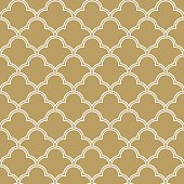 seamless quatrefoil wave pattern.