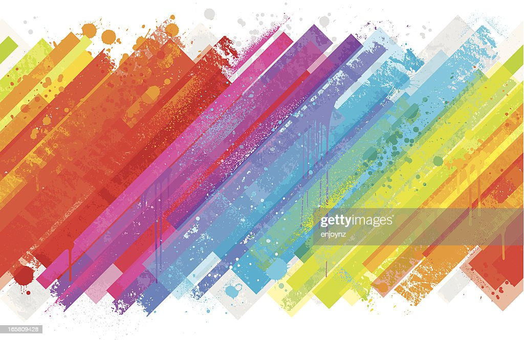 Seamless rainbow splash background