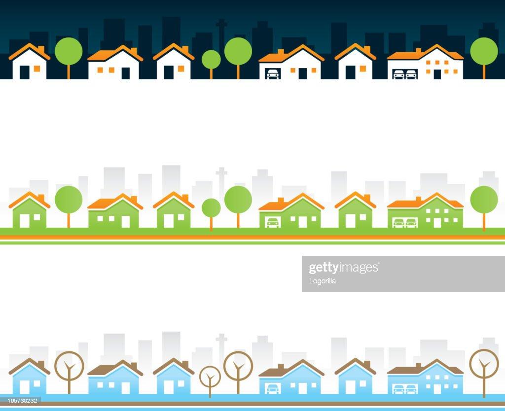 Seamless Real estate borders