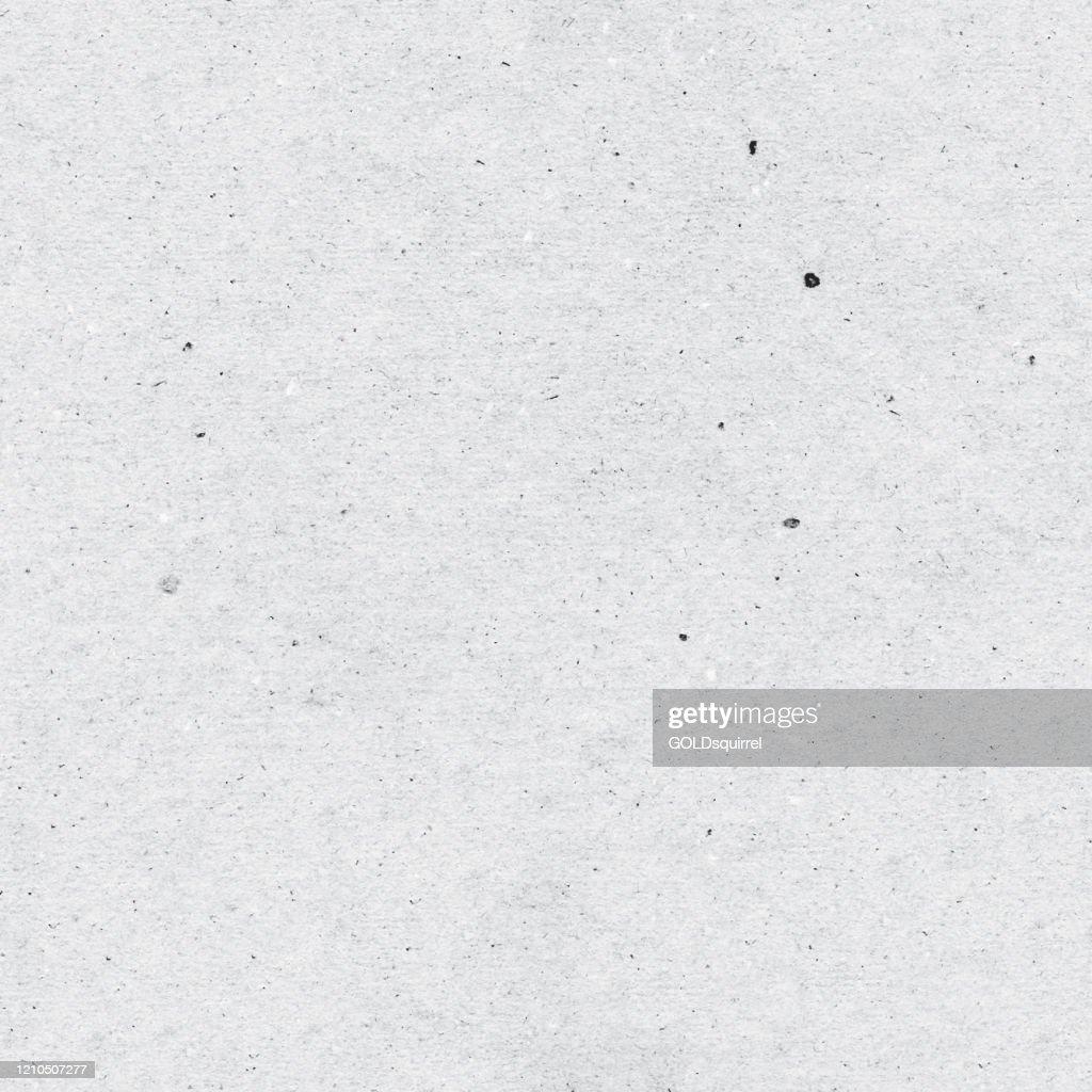 シームレスなリサイクルフラットグレーの紙の背景 - 目に見える汚染と手作りの紙の粗さを持つ顕著なテクスチャを持つ平らな紙 - オリジナルのベクトルイラスト : ストックイラストレーション