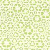 Seamless recycling symbol pattern