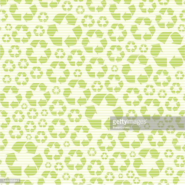 nahtlose muster mit recycling symbol - recycling stock-grafiken, -clipart, -cartoons und -symbole