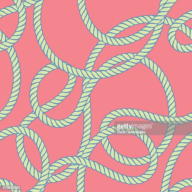 Seamless Repeating Pattern of Nautical Rope
