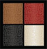 Seamless reptile skin patterns