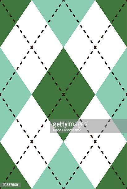 シームレスなパターン、レトロなアーガイル繰り返し - アーガイル模様点のイラスト素材/クリップアート素材/マンガ素材/アイコン素材