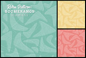 Seamless Retro Boomerang Pattern