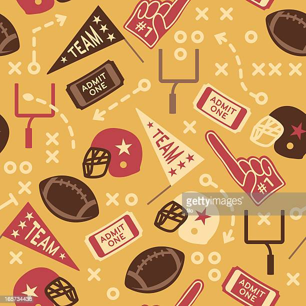 seamless retro football background - pennant stock illustrations