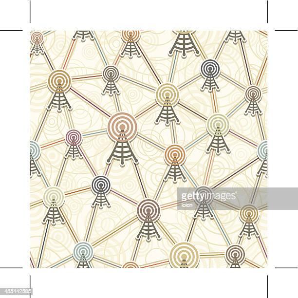 seamless retro network tower wallpaper