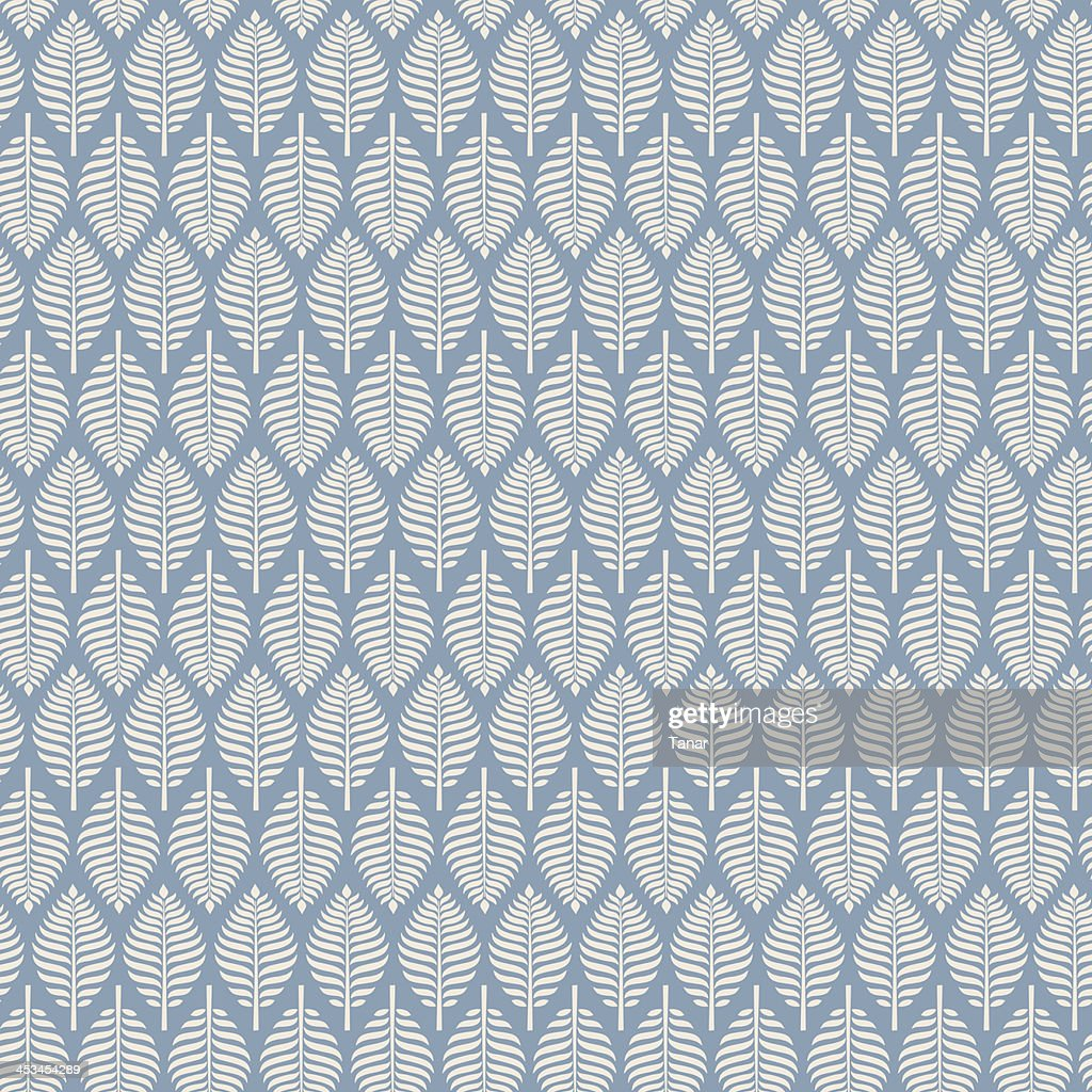 Seamless retro texture with leaves. Elegant pattern, template for design