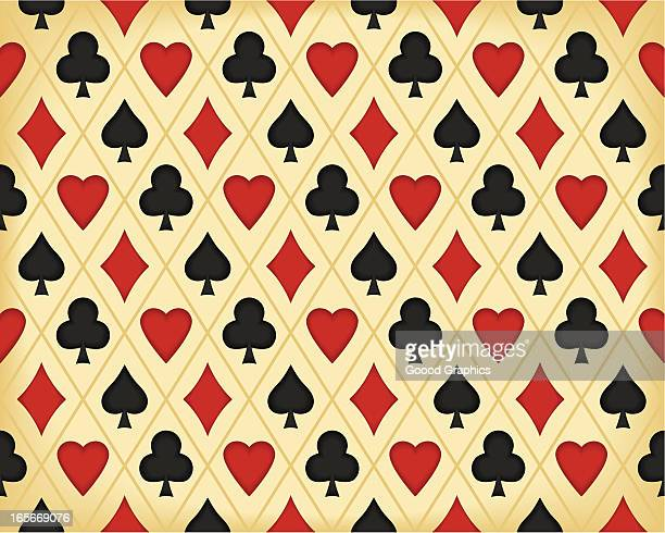 Seamless Retro-Background with Playing Card symbols