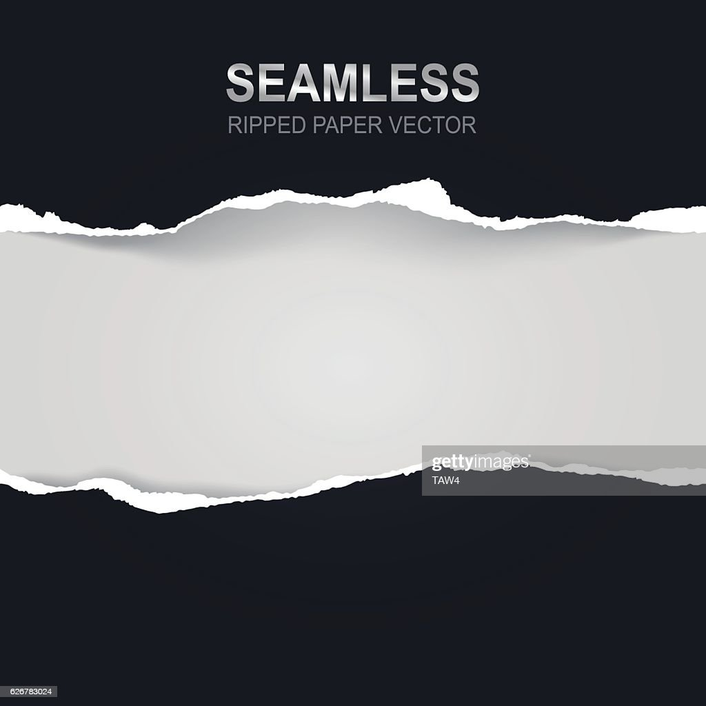 Seamless ripped paper and white background with space for text